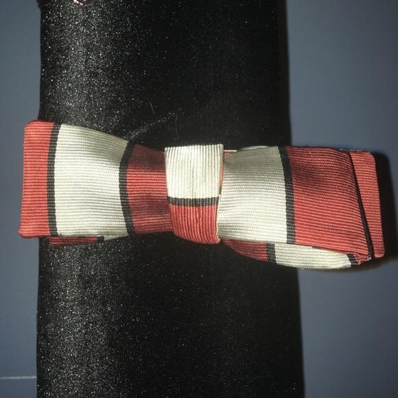 1950s orange striped bowtie